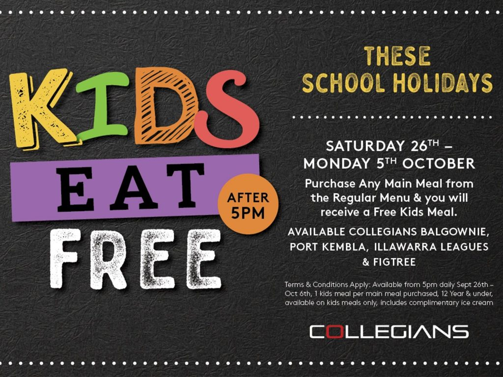kids-eat-free-at-collegians-wollongong